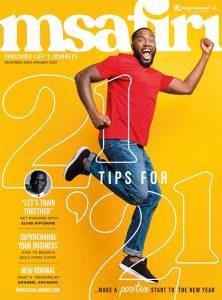 Msafiri magazine cover Dec 2020 - Jan 2021