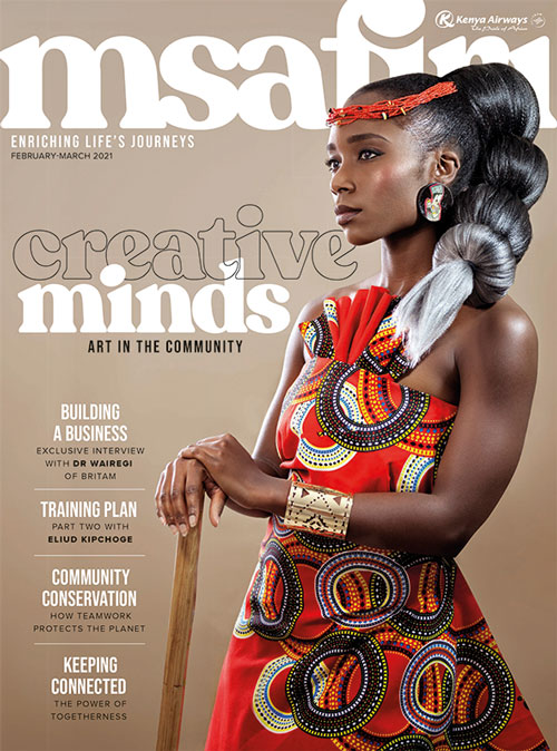 Msafiri magazine cover Feb 2021 - Mar 2021